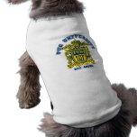 Azul y oro de la universidad del barro amasado camisetas de mascota