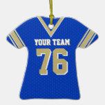 Azul y oro del jersey del fútbol de la escuela ornamento de reyes magos