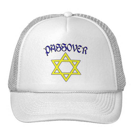 Azul y oro del Passover Gorras