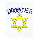 Azul y oro del Passover Invitación Personalizada