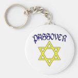 Azul y oro del Passover Llaveros
