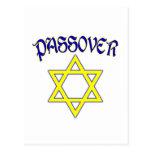 Azul y oro del Passover Postales
