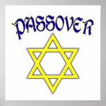 Azul y oro del Passover Posters