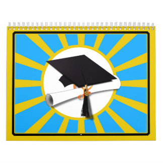 Azul y oro (ENFOQUE de los colores de la escuela Calendario De Pared
