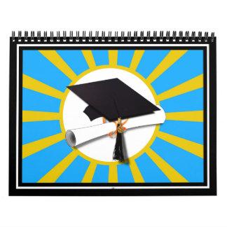 Azul y oro (ENFOQUE de los colores de la escuela Calendarios De Pared