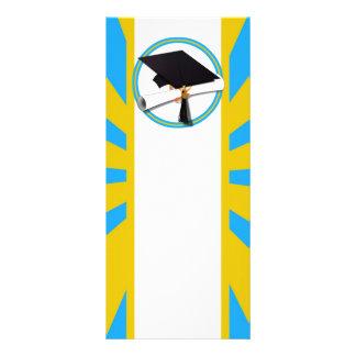 Azul y oro (ENFOQUE de los colores de la escuela Diseño De Tarjeta Publicitaria