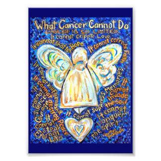 Azul y oro qué cáncer no puede hacer la impresión cojinete