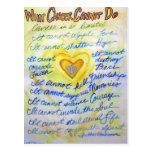 Azul y oro qué cáncer no puede hacer las postales