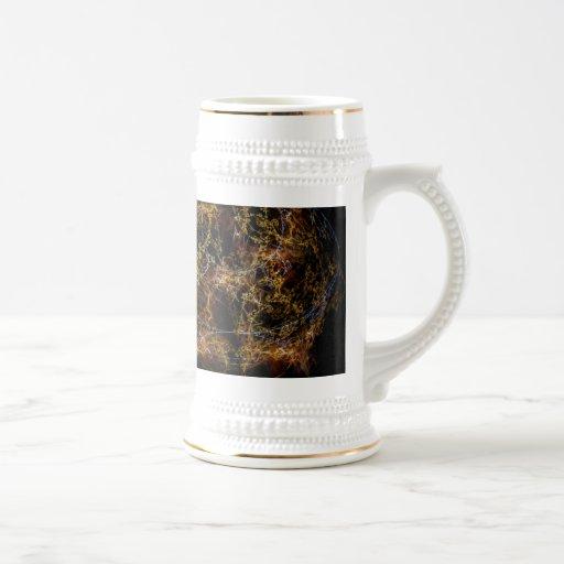 Azul y oro tazas de café