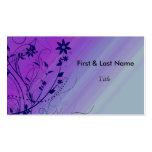 Azul y plantilla púrpura de la tarjeta de visita d