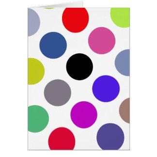 Azul y puntos coloridos de Brown Tarjetas