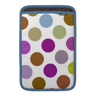 Azul y puntos grandes de Brown Funda Macbook Air