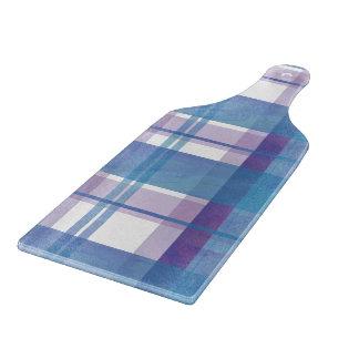 Azul y púrpura de la tela escocesa de Madras Tabla De Cortar