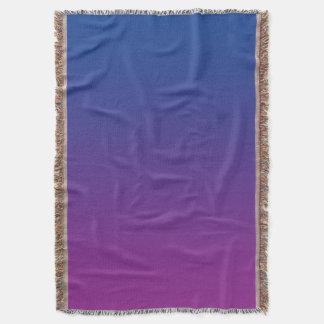 Azul y púrpura manta
