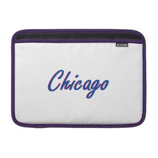 Azul y rojo de Chicago Fundas Macbook Air