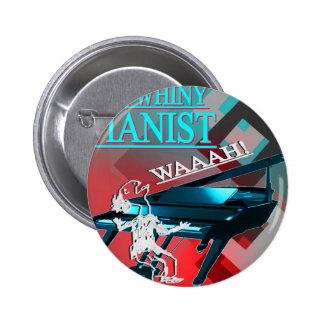 """Azul y rojo """"del pianista grande del Whiny"""" Pins"""