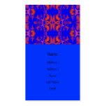 azul y rojo tarjeta de negocio