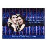 Azul y tarjeta color de rosa de la foto del invitacion personal