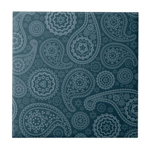 Azul y turquesa viejos paisley.png azulejo