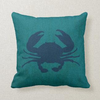 Azul y verde de océano náutico del cangrejo cojín