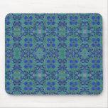 Azul y verde tapetes de ratón