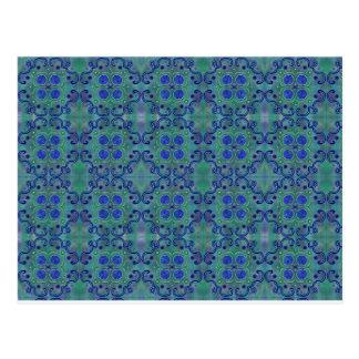 Azul y verde tarjeta postal