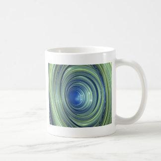 Azul y verde taza de café