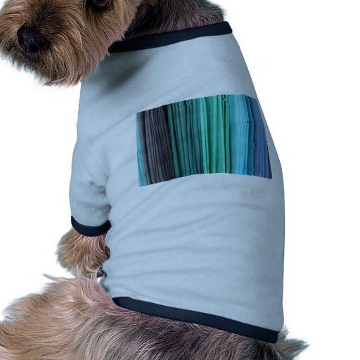 Azul y verdes prenda mascota