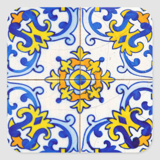 Azulejo Art Tile Square Sticker