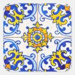 Azulejo Art Tile Square Stickers