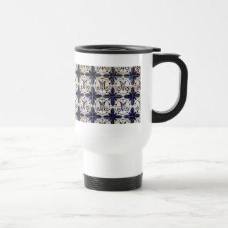 Azulejo del portugués del vintage tazas de café