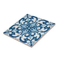 Azulejo Fleur De Lis Style Pattern Tile