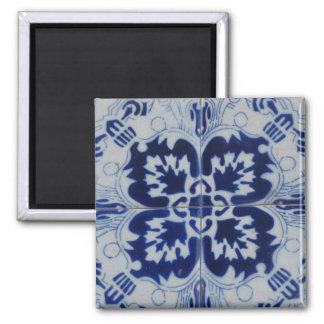 Azulejo flower magnet