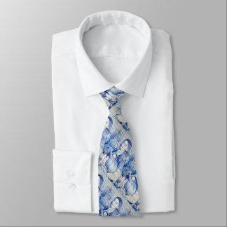 Azulejo mural neck tie