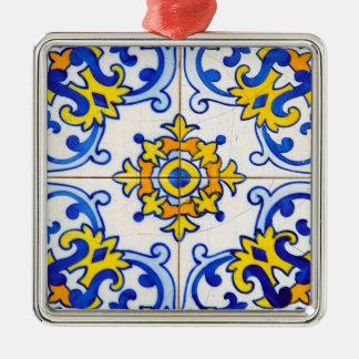 Azulejo Panel Tiles Metal Ornament