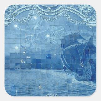 Azulejo tile square sticker