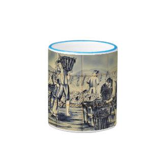 Azulejo Wine Picking Coffee Mug