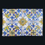 """Azulejos Ceramic tiles Kitchen Towel<br><div class=""""desc"""">Traditional colorful Azulejos pattern from Macau. Architectural decorative detail. Color photo. A unique item and a great gift for you or someone on your gift list.</div>"""