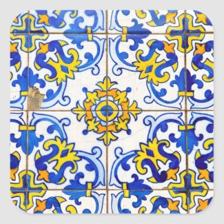 Azulejos Ceramic tiles Square Stickers