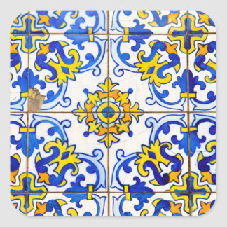 Azulejos Ceramic tiles Square Stickers