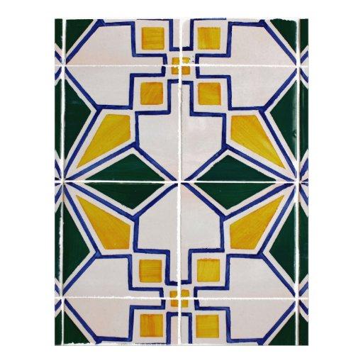 Azulejos, Portuguese Tiles Modelo De Papel De Carta