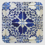 Azulejos, Portuguese Tiles Pegatina Cuadrada