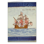 Azulejos tile depicting a ship, from Sagres Card
