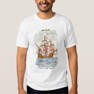 Azulejos tile depicting a ship, from Sagres T-Shirt