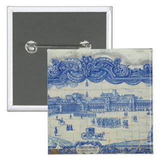 Azulejos tiles depicting the Praca do Comercio Button