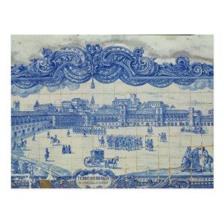 Azulejos tiles depicting the Praca do Comercio Postcard