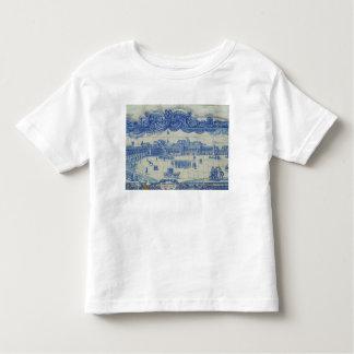 Azulejos tiles depicting the Praca do Comercio T Shirt