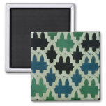 Azulejos tiles from the throne of the Sultans 2 Inch Square Magnet