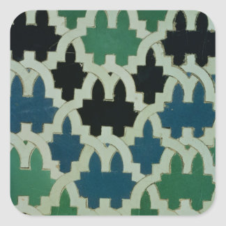 Azulejos tiles from the throne of the Sultans Square Sticker