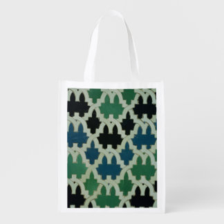 Azulejos tiles from the throne of the Sultans Reusable Grocery Bag